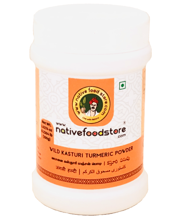 Native Food Wild Kasturi turmeric Powder - Indian Food Store