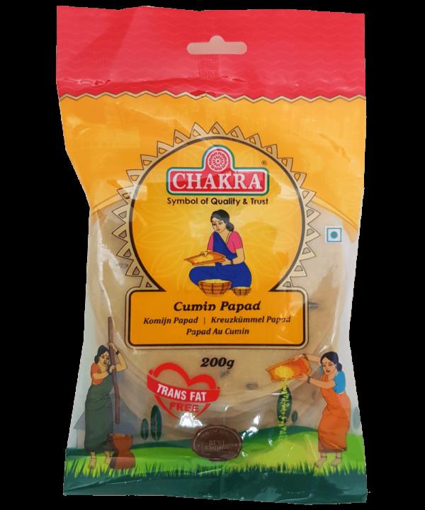 Chakra Cumin Papad - Indian Food Store