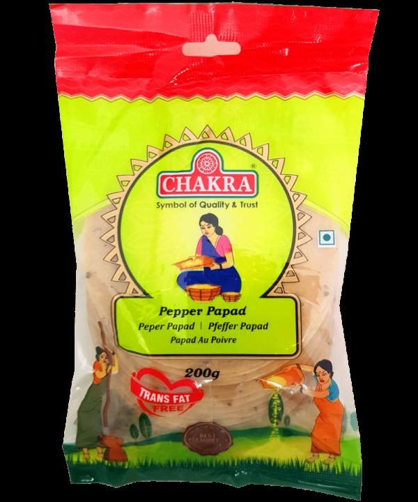Chakra Pepper Papad - Indian Food Store
